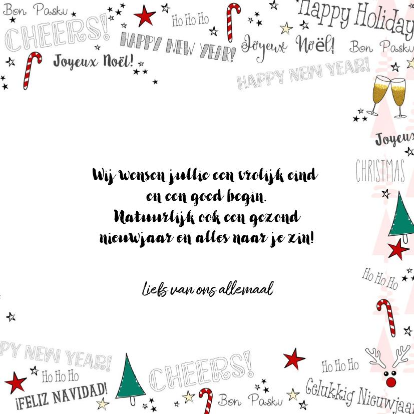 Kerst feestelijke illustratieve kaart handlettering  3