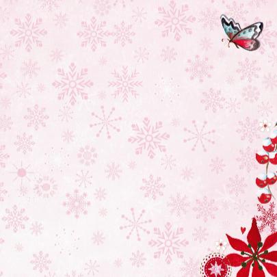 Kerst foto collage PINK SNEEUW 3