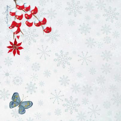 Kerst foto collage SNEEUW bloem 2