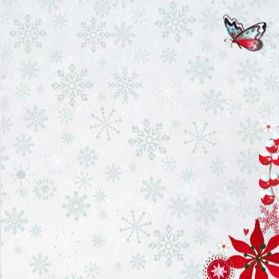 Kerst foto collage SNEEUW bloem 3