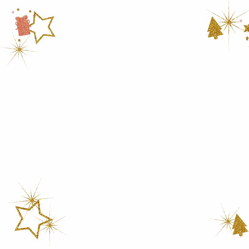 Kerst foto glitter boom pakje 2