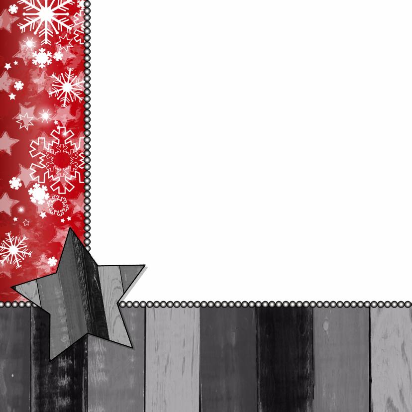Kerst foto modern ster hout rood 2