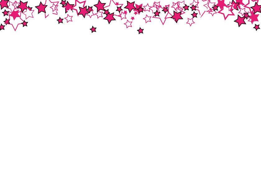 Kerst foto ster roze hout L-HB 2