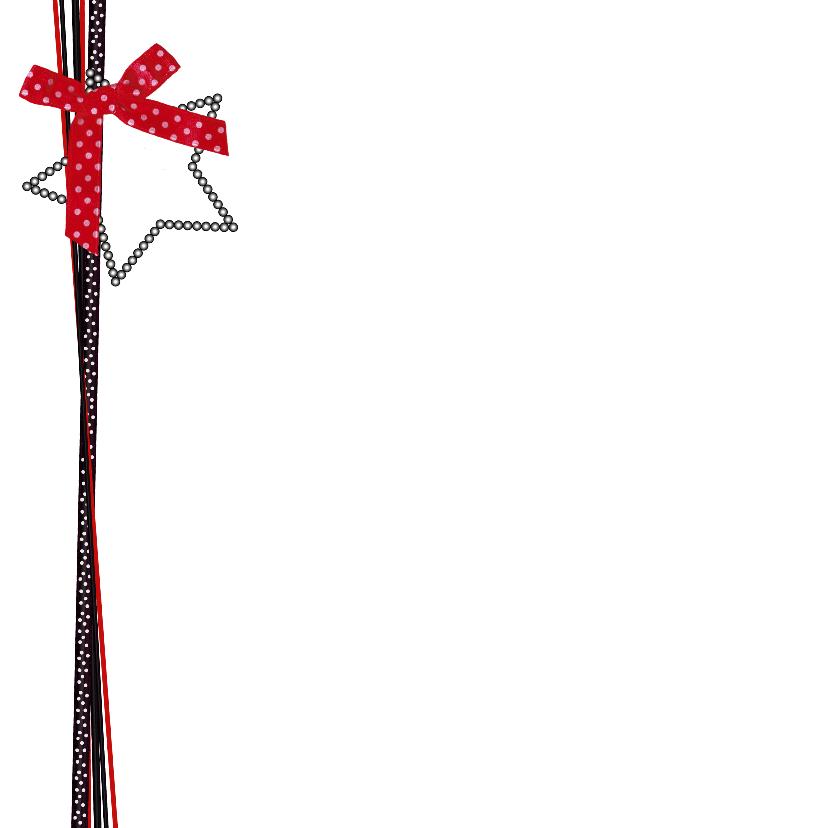Kerst foto zwart rood lint V-HB 2