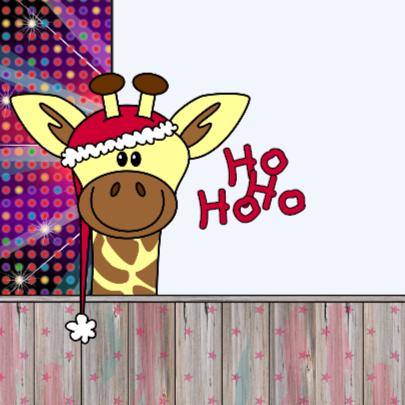 Kerst giraffe disco 4knt 2