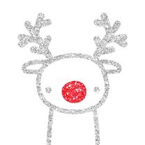 Kerst Glitter Rendier