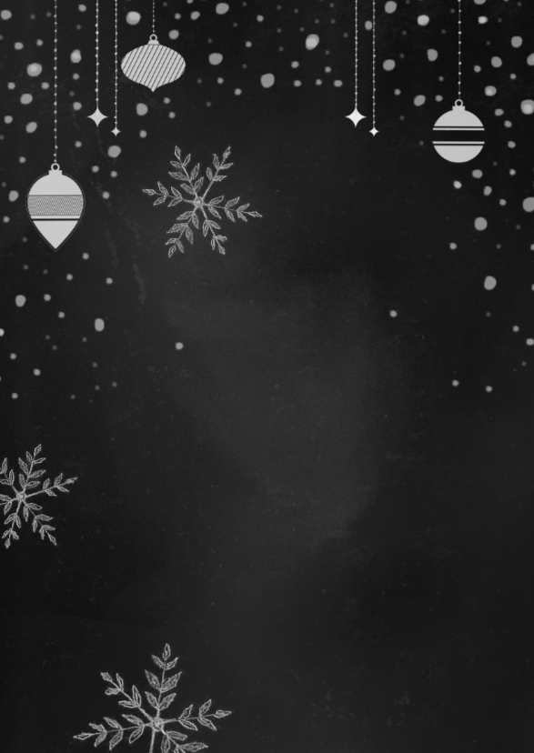 Kerst handgetekend krijtbord  2