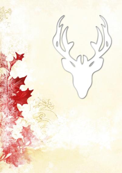Kerst hert met rode hulst 2 - SG 2