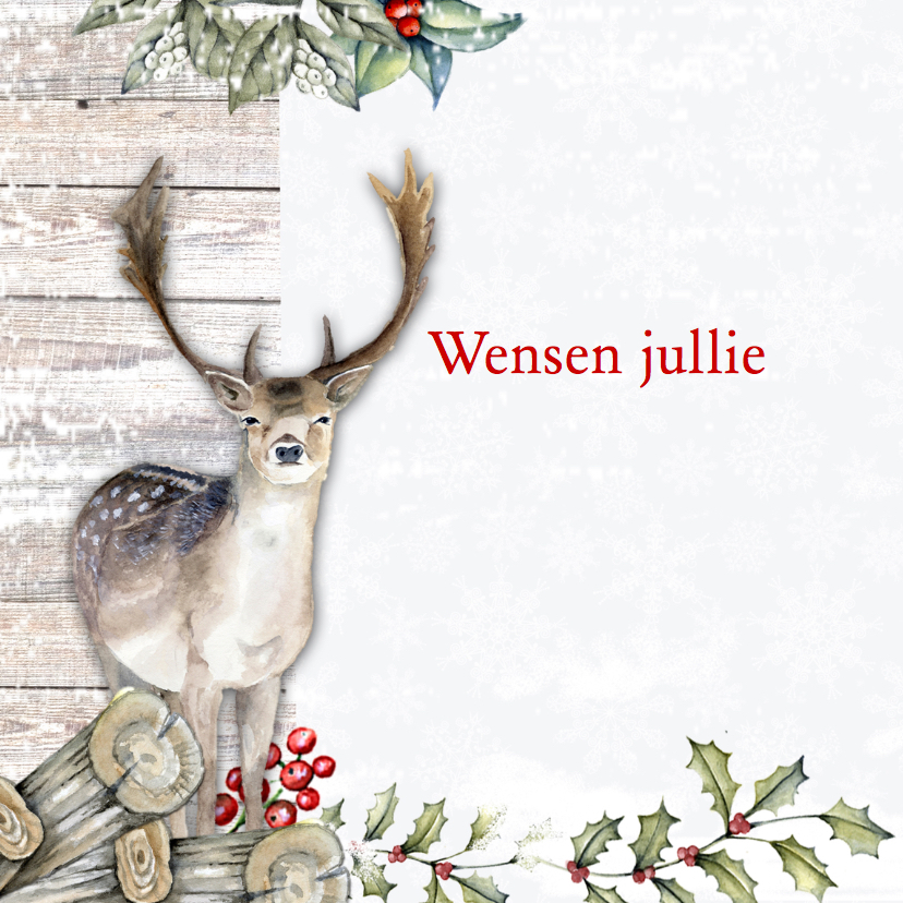 Kerst hert sneeuw 2
