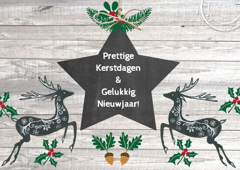 Kerst herten ster 2