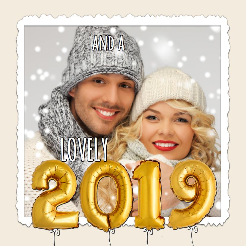 Kerst hip ballonnen goud xmas 2019 2