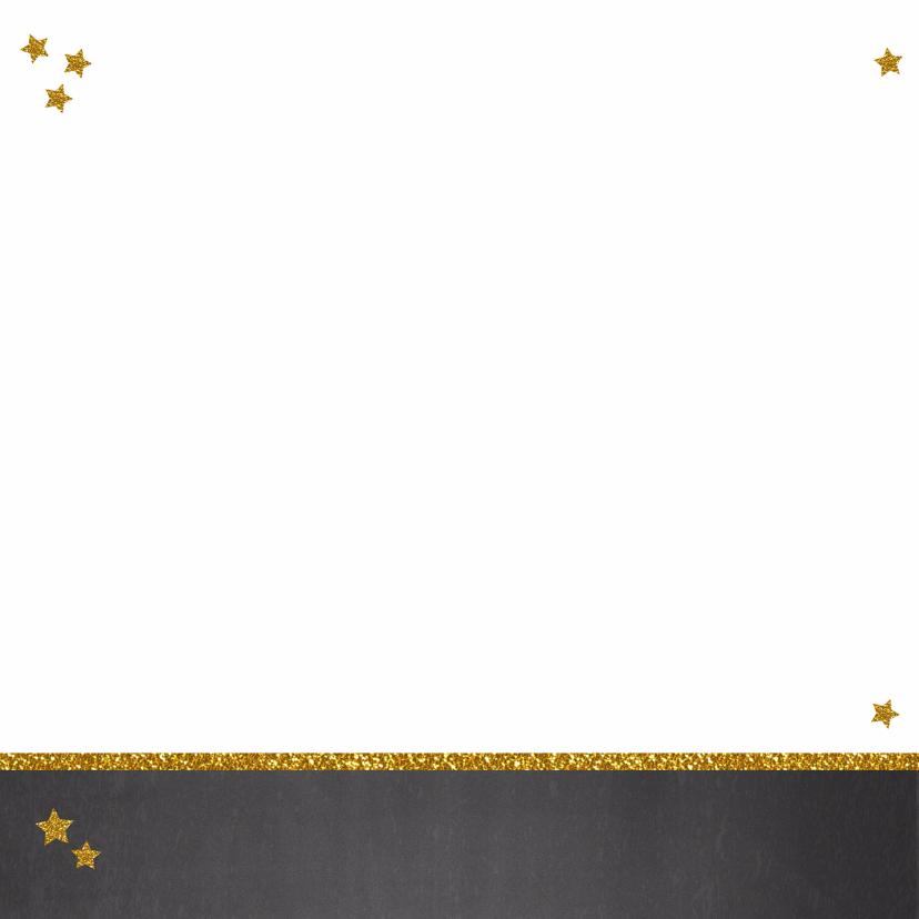 Kerst hippe foto kerstkaart krijtbord en sterren 2