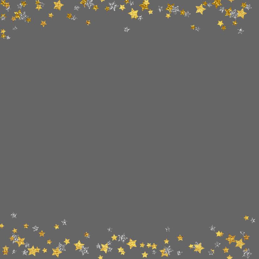 Kerst hippe handlettering kaart glitter goud 2