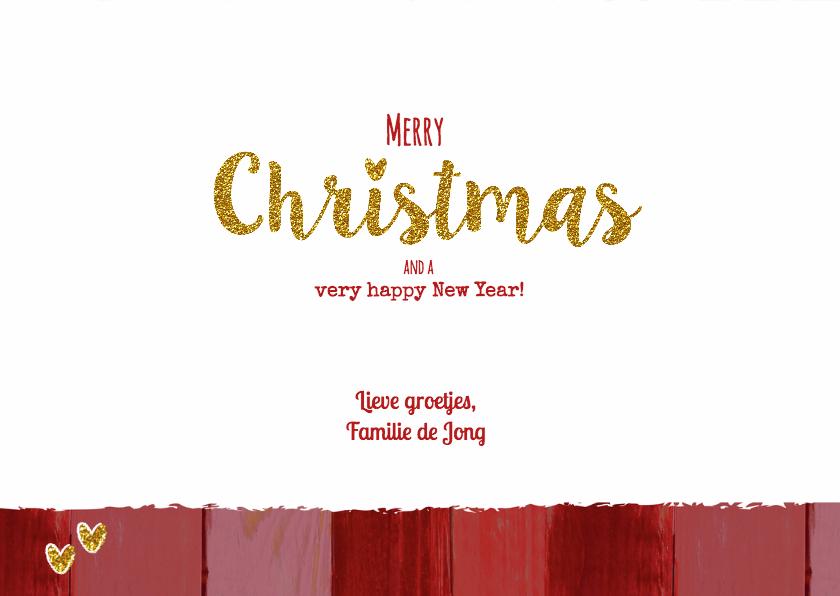 Kerst hout rood goud foto L 3