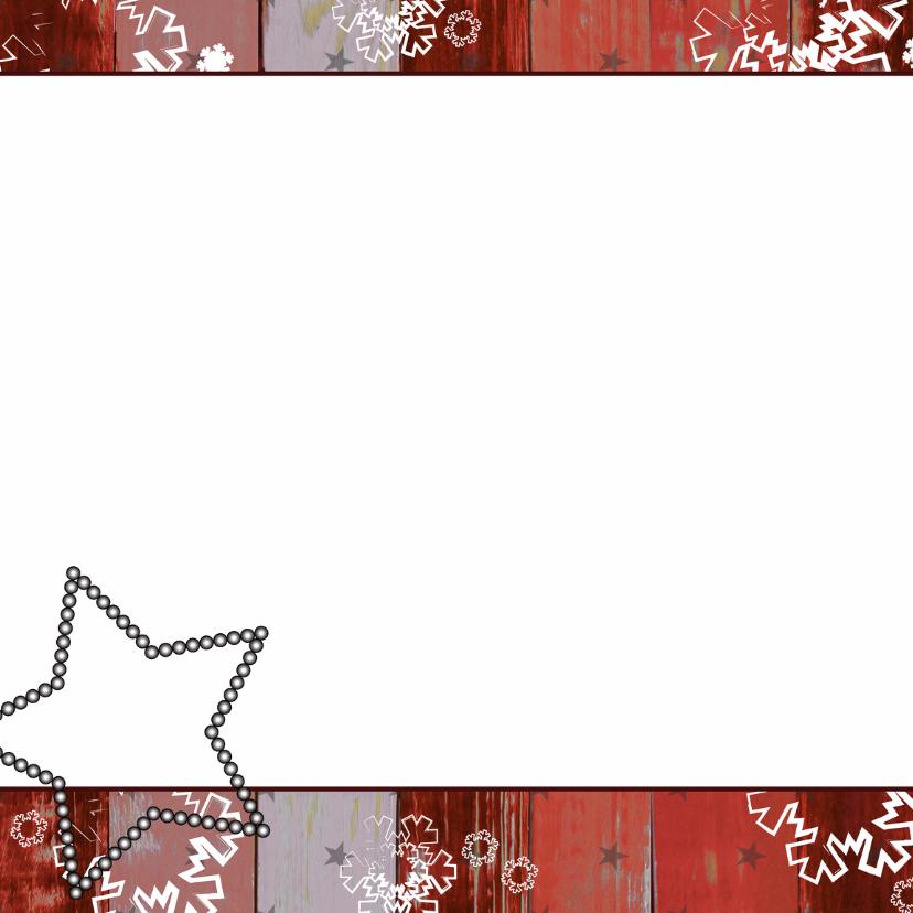 Kerst hout rood krijtbord boom V 2