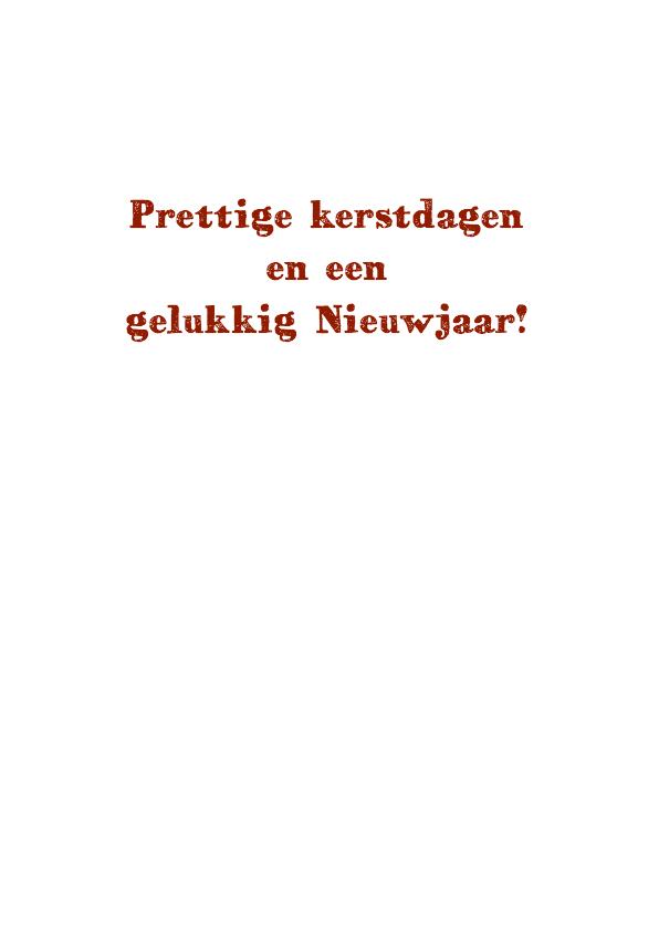 Kerst Huisjes Papierprint - HR 3