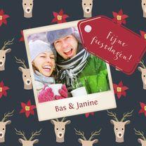 Kerst illustratie deer - DH