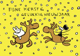 Kerstkaarten - Kerst Joep & Hop en rendieren