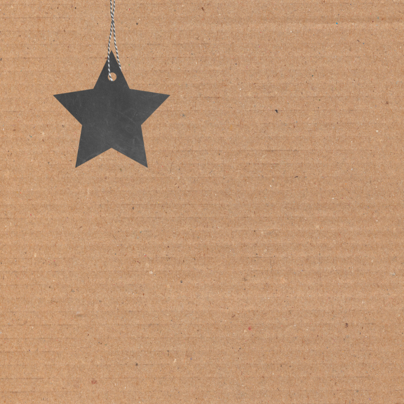 Kerst Karton, ster, foto 2