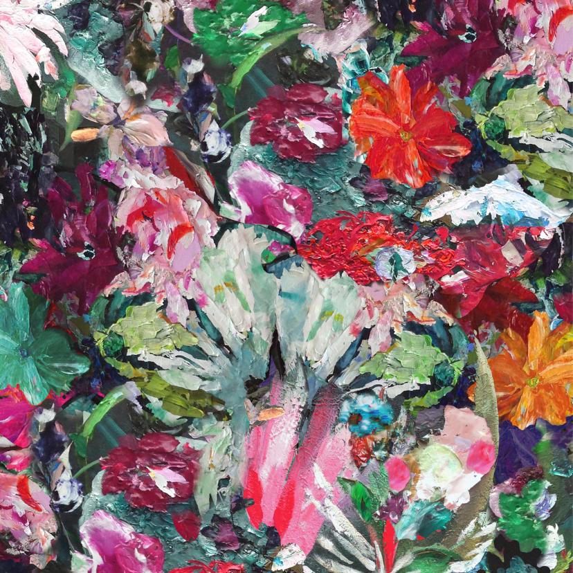 Kerst kunstprint bloemen 2