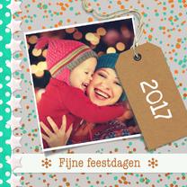 Kerstkaarten - Kerst label en eigen foto - DH