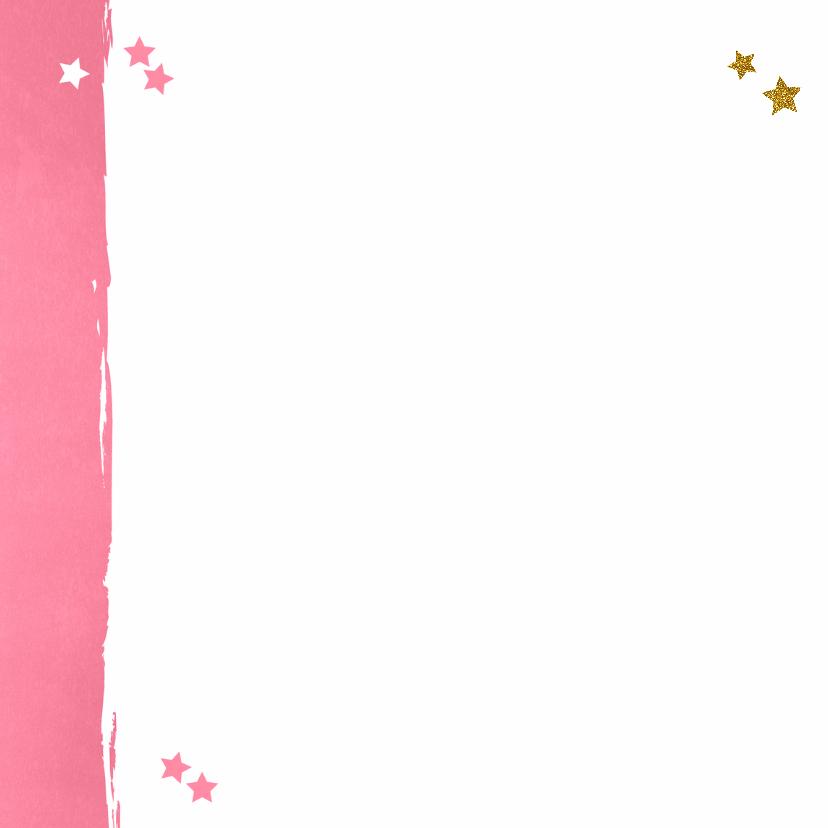 Kerst lief fotokaartje roze goud 2