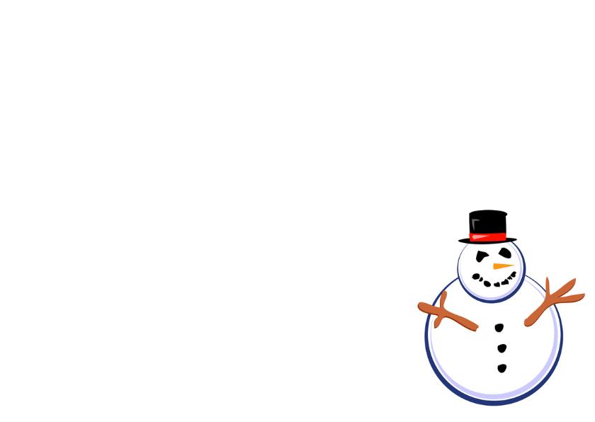 Kerst lijst met Sneeuwpoppen - OT 3