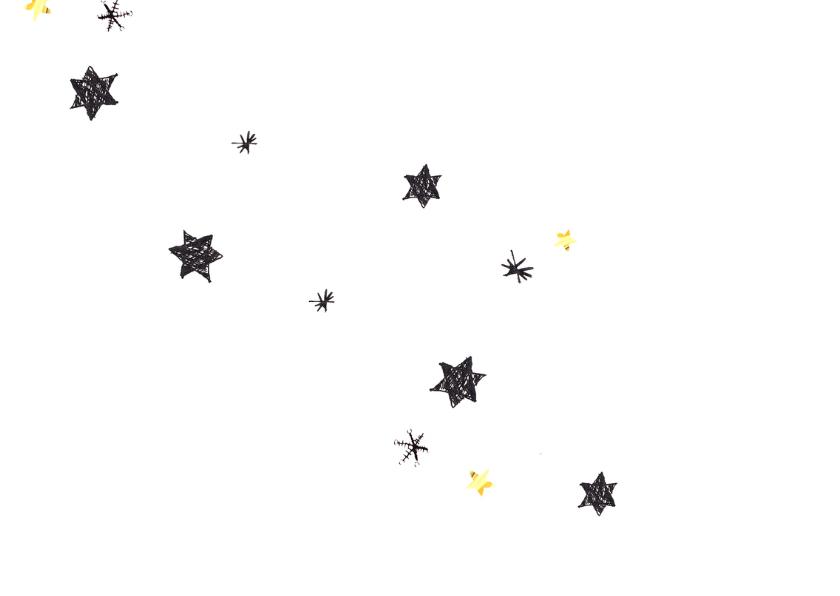 kerst menukaart sterren 2