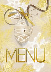 Menukaarten - Kerst menukaart trendy - SG