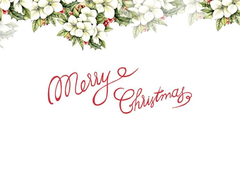 Kerst met mooie kerstbloemen 2