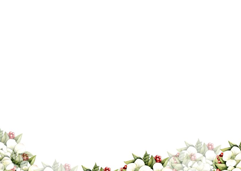 Kerst met mooie kerstbloemen 3
