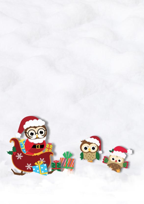 Kerst met uiltjes in de sneeuw 3