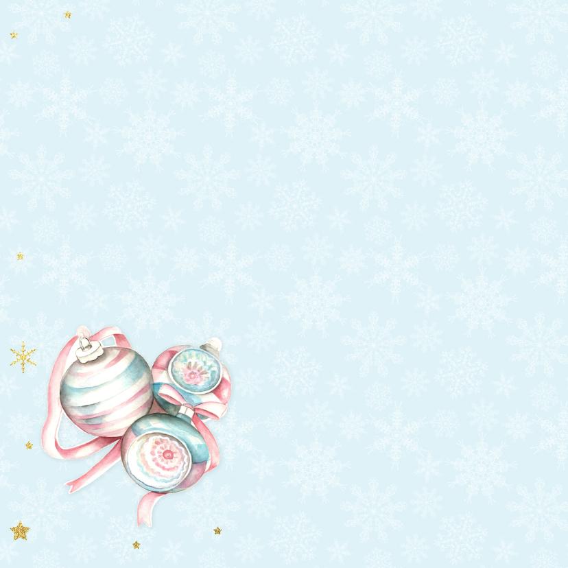 Kerst pastel kerstballen 2
