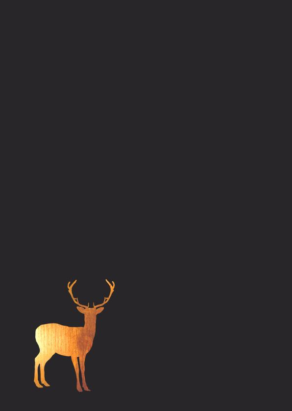 Kerst - Rendier, goud, handlettering 2