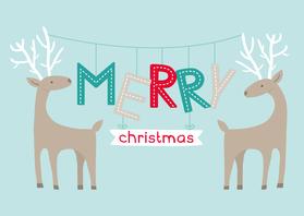 Kerstkaarten - Kerst Rendieren
