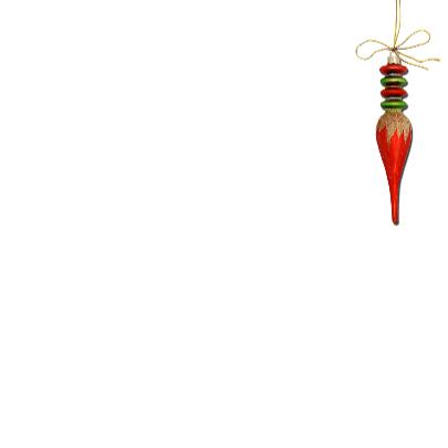 Kerst rode kerstbal groen hout - SG 3