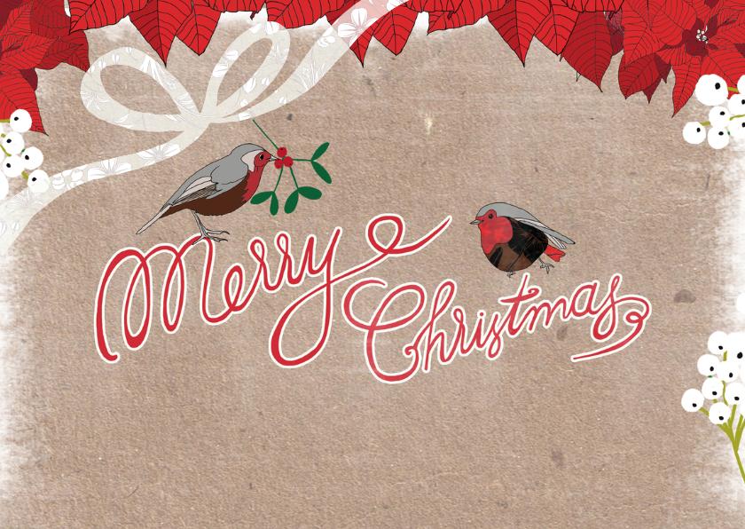 kerst roodborstjes kerstster 2
