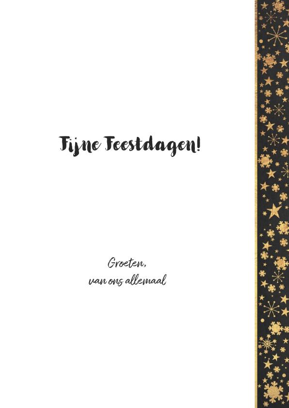 Kerst sfeervolle kaart krijtbord met kerstboom hout look 3