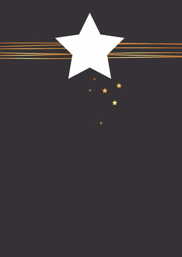 Kerst - Ster met gouden lijnen 2