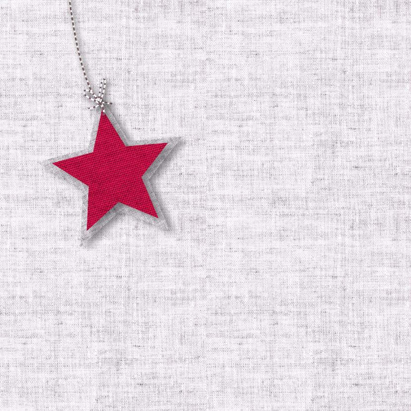 Kerst sterren stoffen rood 2