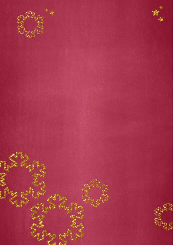 Kerst stijlvolle hippe fotokaart rood krijtbord 2