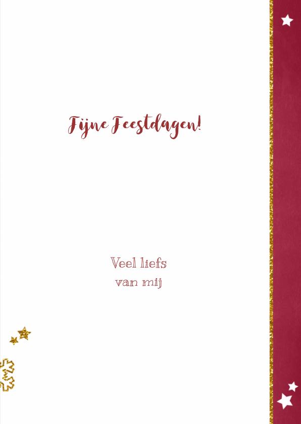 Kerst stijlvolle hippe fotokaart rood krijtbord 3