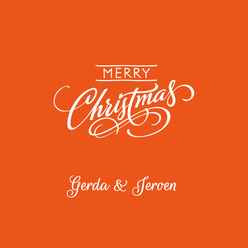 Kerst Strak oranje ijskristal met sierletters 3