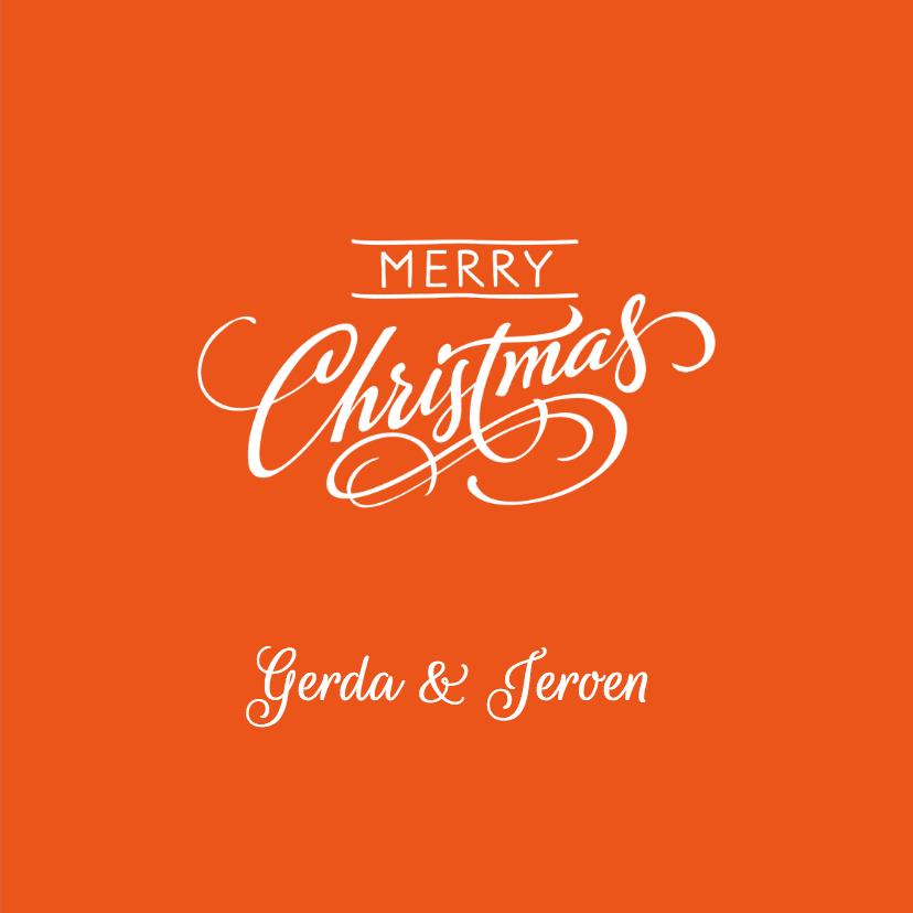 Kerst Strak oranje - OT 3