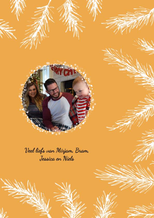 Kerst takjes fotokaart 3