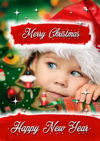 Kerstkaarten - Kerst verfstrepen hip - OT