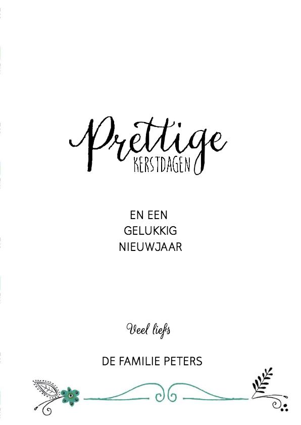 Kerst Vintage Papier Letters 3