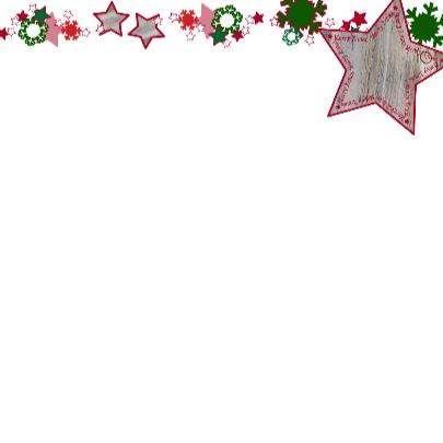 KERST vrolijk ster sneeuwvlok Rood 4knt 3