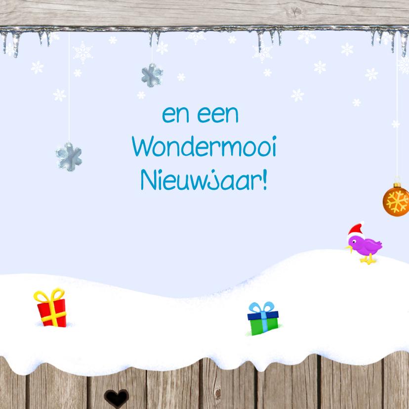 Kerst Vrolijke Sneeuwplaat 3