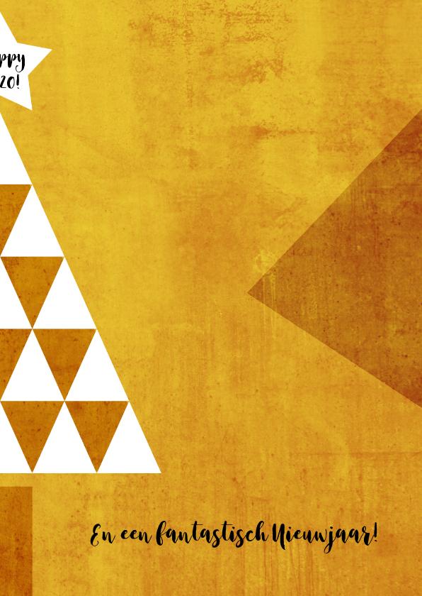 Kerst zakelijk boom geel - HR 3